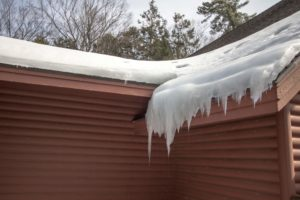 ice dam on home roof